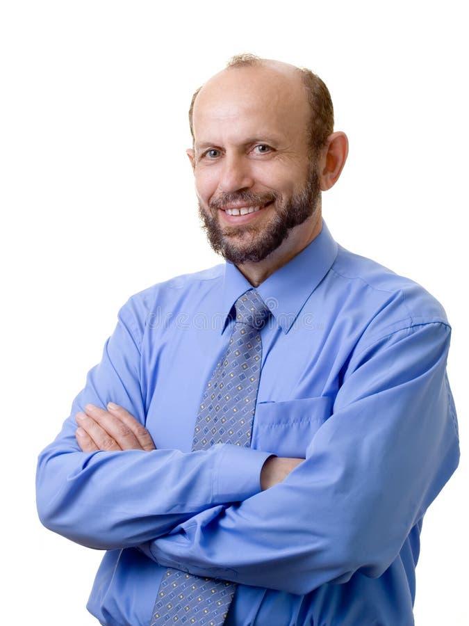 Uomo d'affari sorridente immagini stock