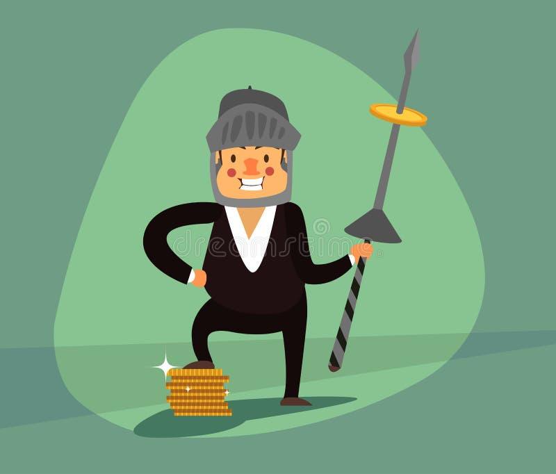Uomo d'affari sorridente ENV 10 royalty illustrazione gratis