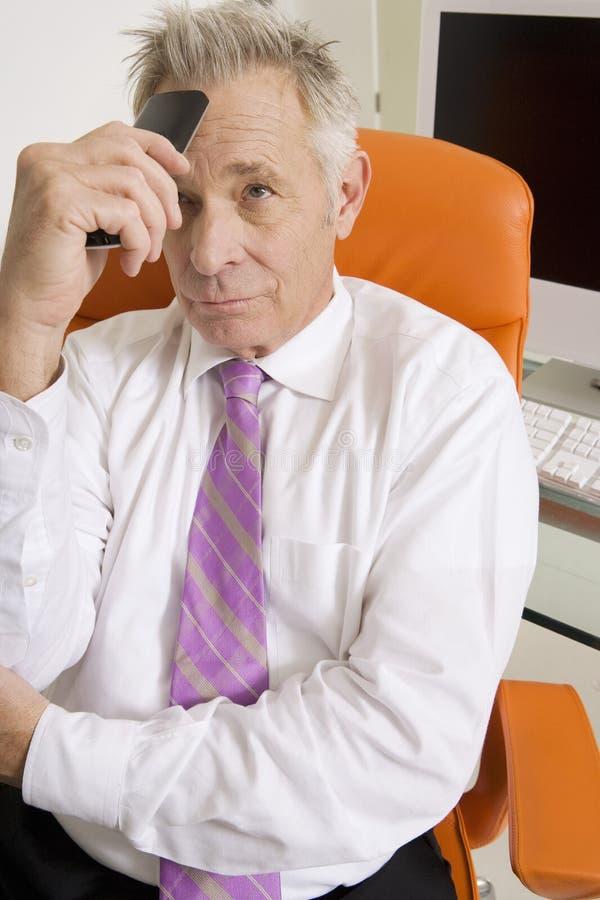 Uomo d'affari Stressed Out immagine stock libera da diritti