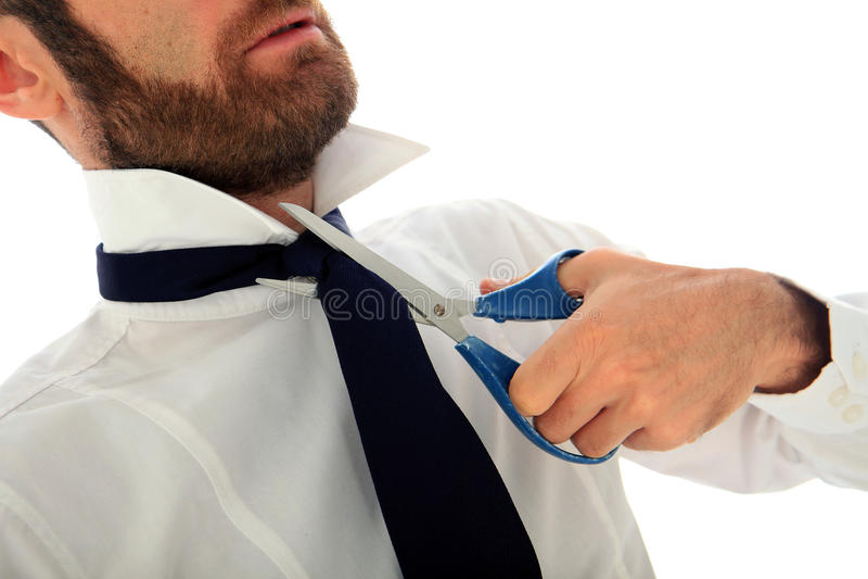 Uomo d'affari suicida fotografia stock