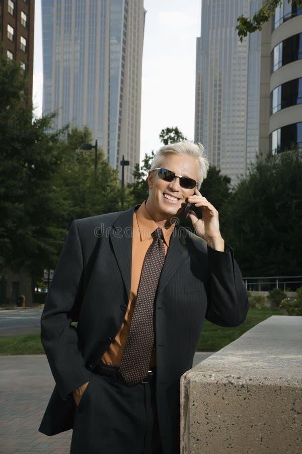 Uomo d'affari sul telefono. fotografia stock libera da diritti