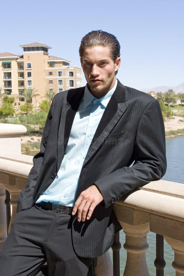 Uomo d'affari in vestito fotografia stock libera da diritti