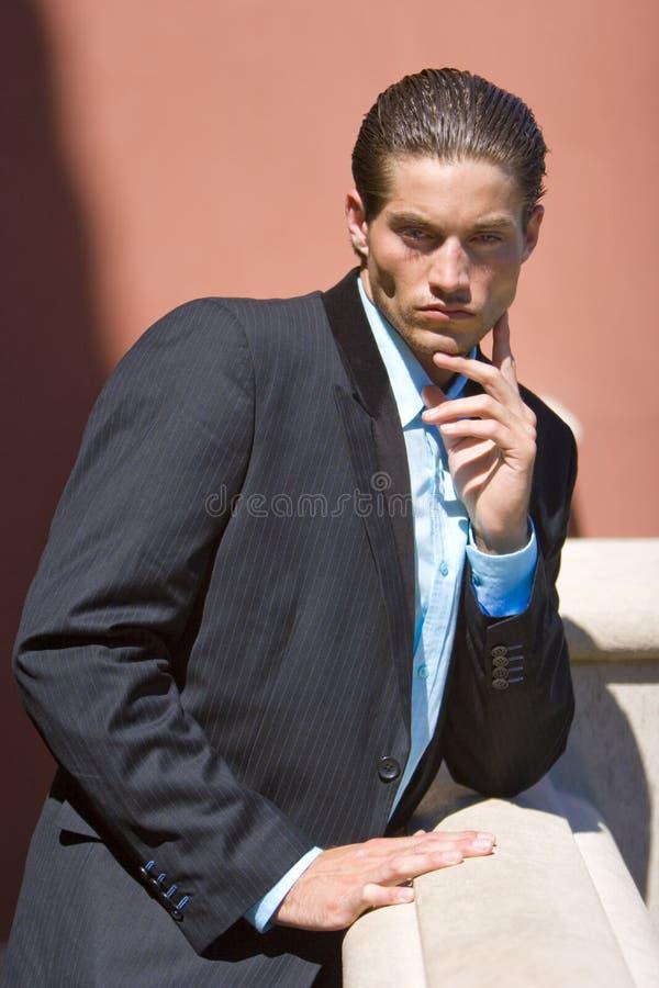 Uomo d'affari in vestito immagini stock libere da diritti