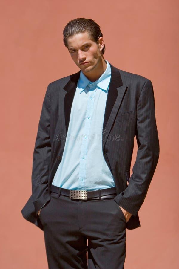 Uomo d'affari in vestito immagini stock