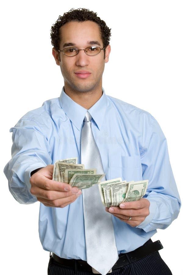 Uomo dei soldi fotografie stock