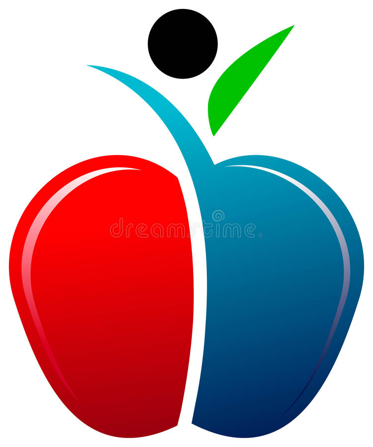Uomo del Apple illustrazione vettoriale