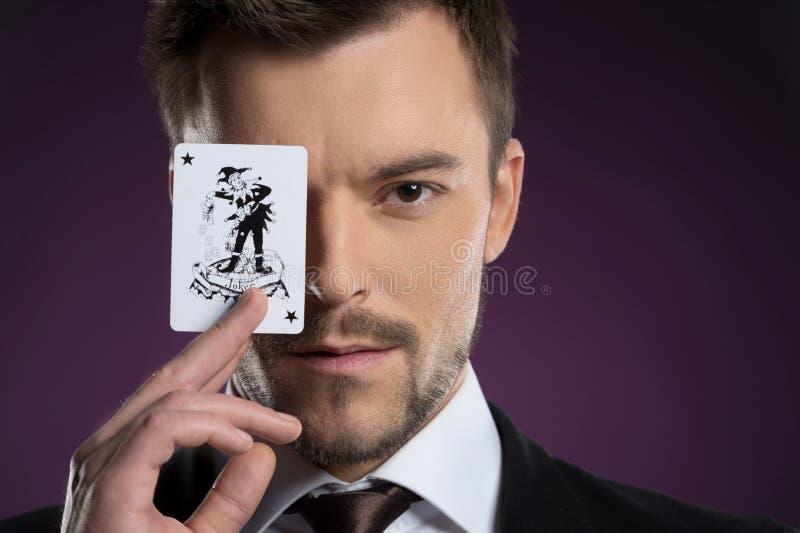 Uomo del burlone. fotografia stock