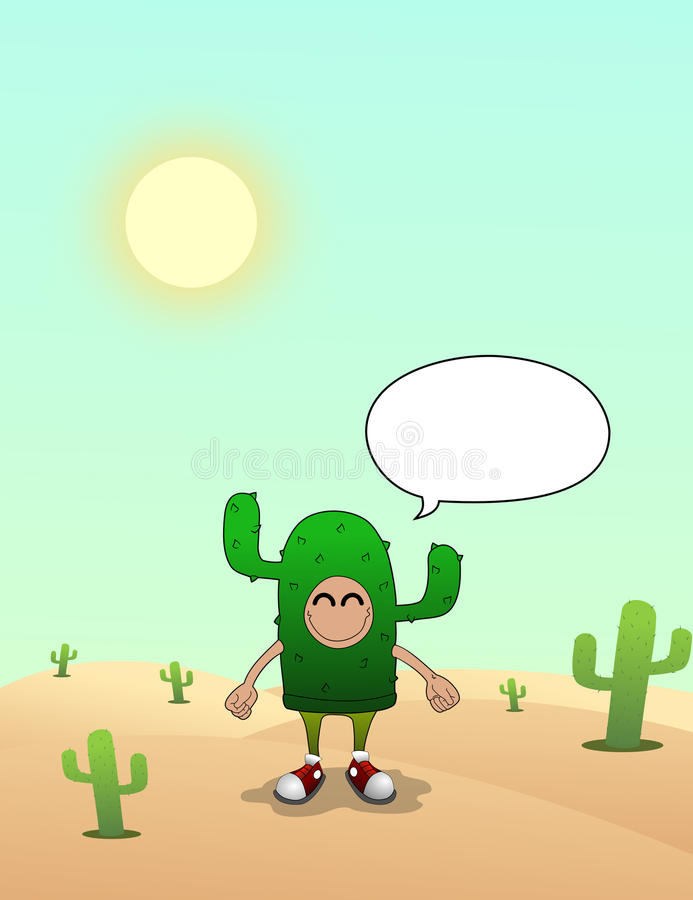 Uomo del cactus sui deserti immagini stock