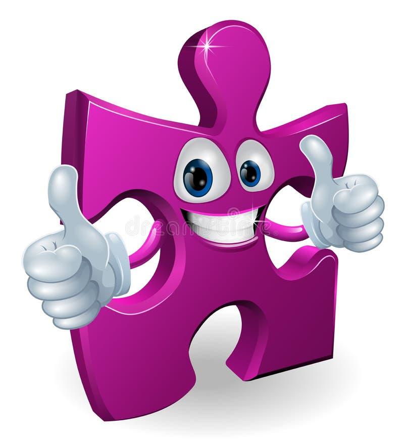 Uomo del cartooon della parte del puzzle royalty illustrazione gratis