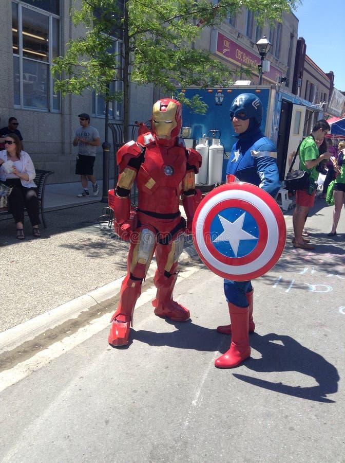 Uomo del ferro e capitano America fotografie stock