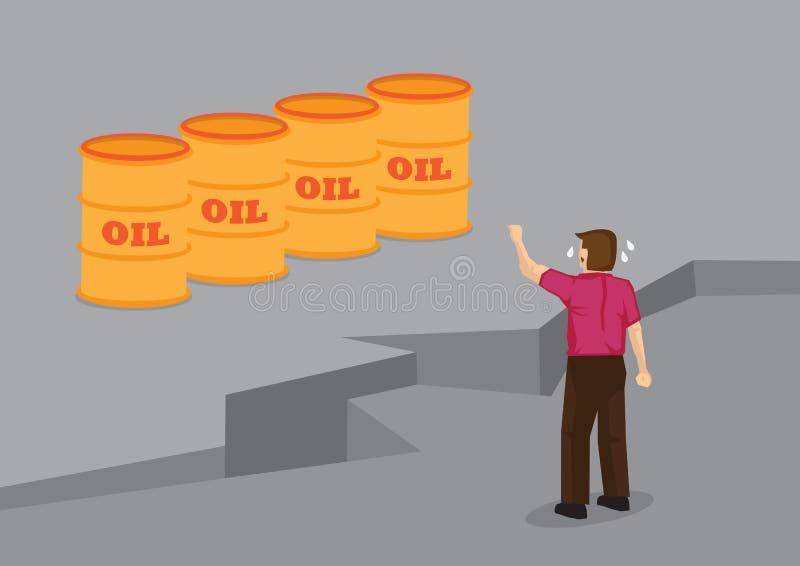 Uomo del fumetto separato dall'illustrazione di vettore dell'olio illustrazione vettoriale