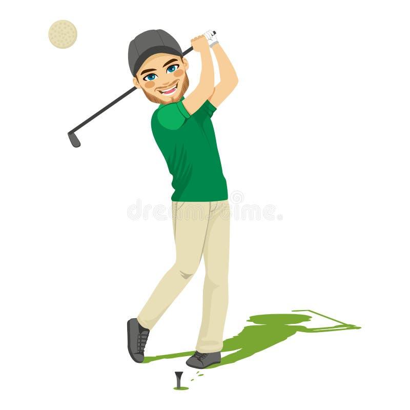 Uomo del giocatore di golf illustrazione vettoriale