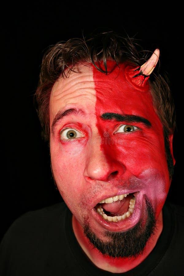 Uomo del mostro del diavolo immagini stock
