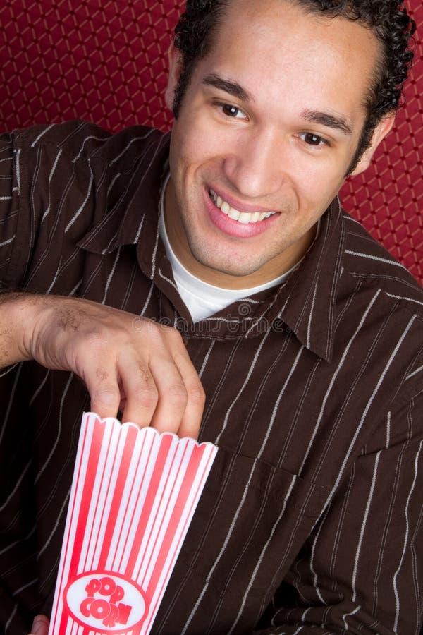 Uomo del popcorn immagine stock libera da diritti