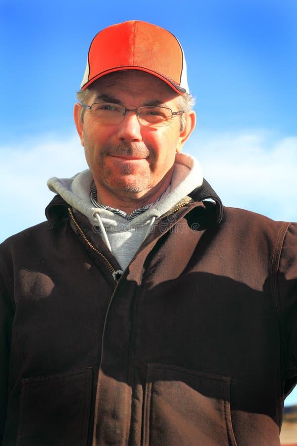 Uomo del proprietario di ranch immagini stock