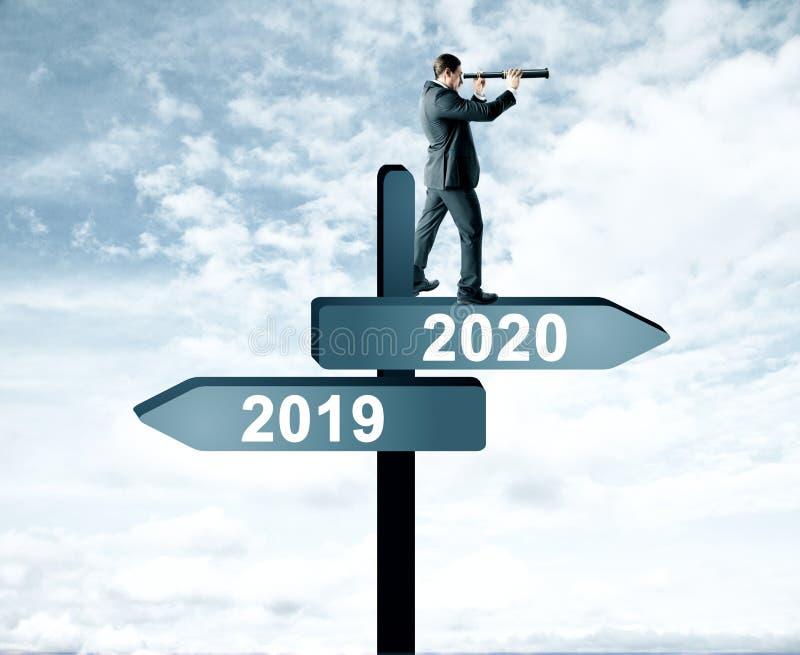 Uomo del 2019, segno 2020 immagine stock