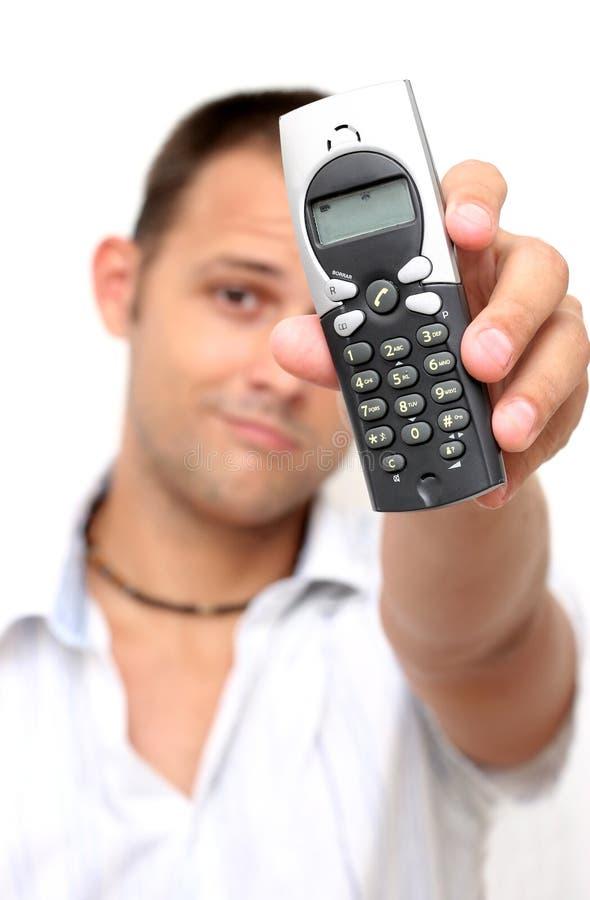 Uomo del telefono fotografia stock