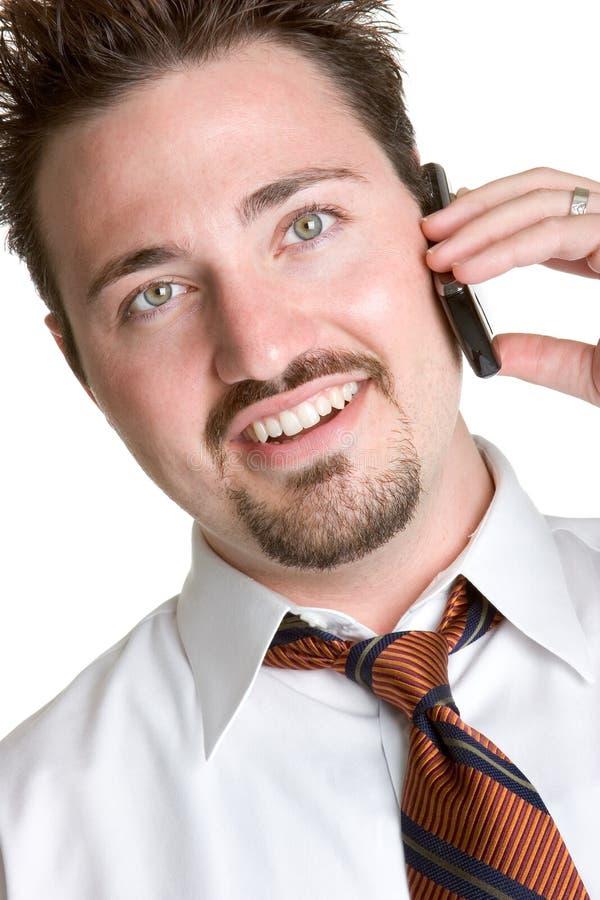 Uomo del telefono delle cellule fotografia stock