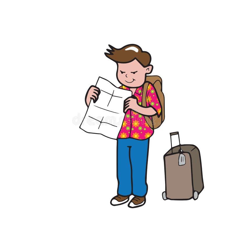 Uomo del viaggiatore illustrazione vettoriale