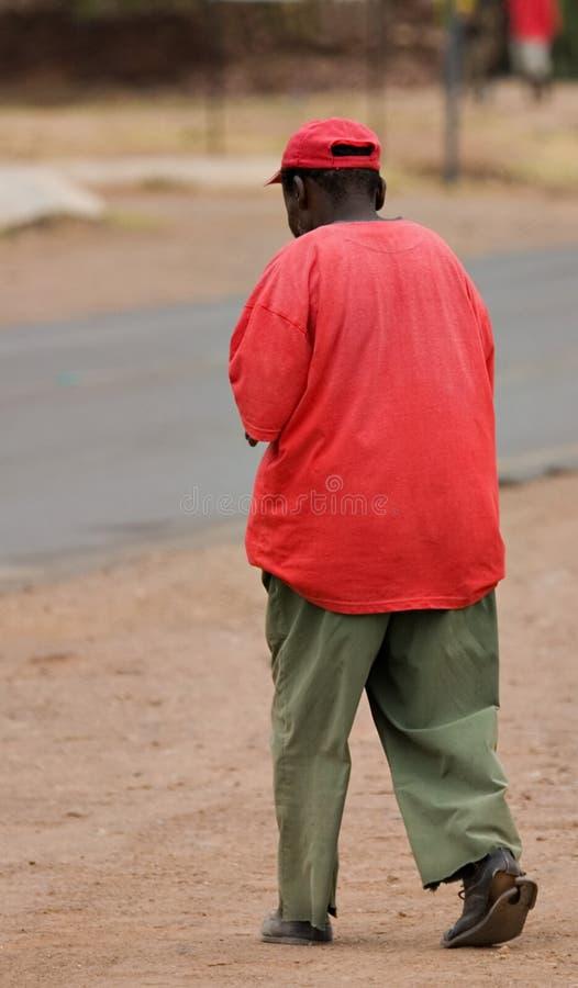 Uomo dell'Africano di povertà fotografia stock libera da diritti