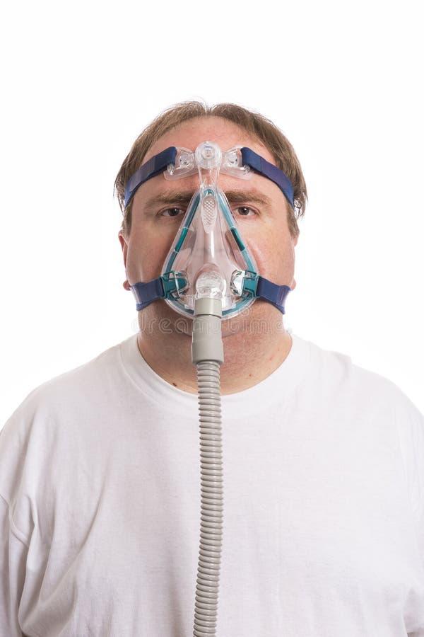 Uomo dell'apnea di Sleap immagini stock