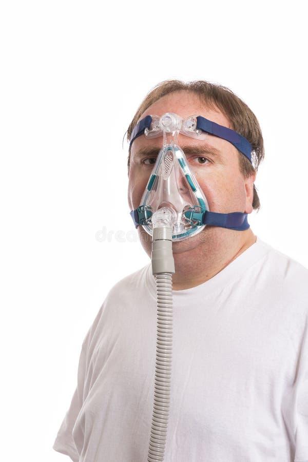 Uomo dell'apnea di Sleap fotografie stock libere da diritti