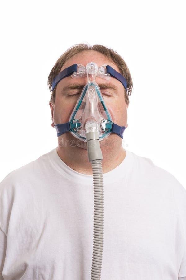 Uomo dell'apnea di Sleap fotografia stock libera da diritti