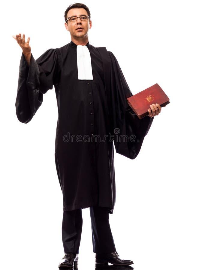 Uomo dell'avvocato che supplica fotografia stock libera da diritti
