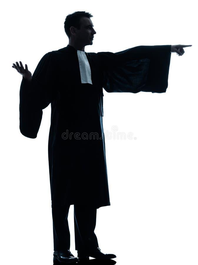 Uomo dell'avvocato che supplica immagine stock libera da diritti