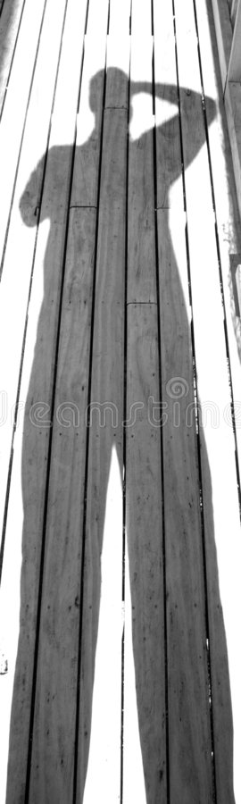Download Uomo dell'ombra immagine stock. Immagine di contrasto, lungo - 125529