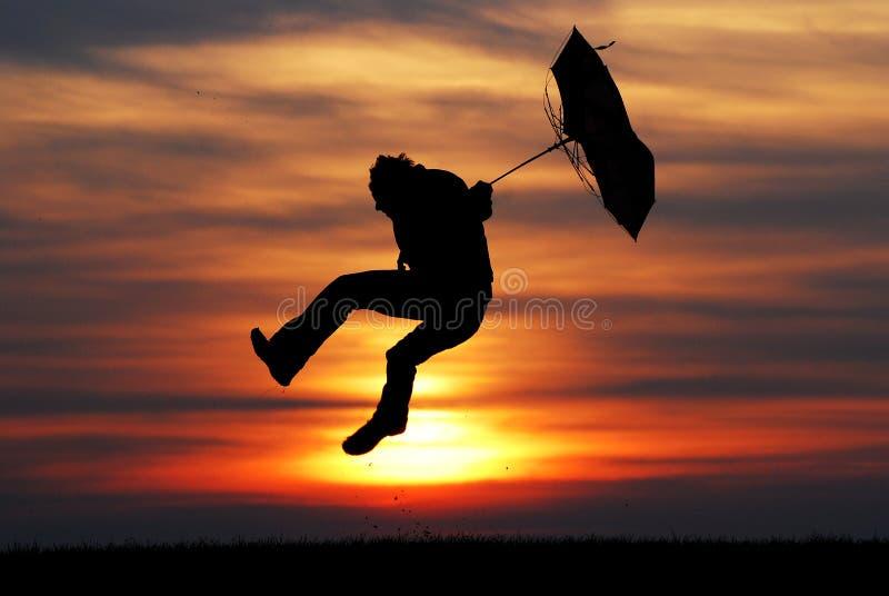 Uomo dell'ombrello fotografie stock libere da diritti