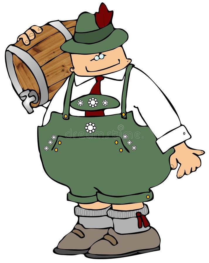 Uomo della birra di Oktoberfest illustrazione vettoriale