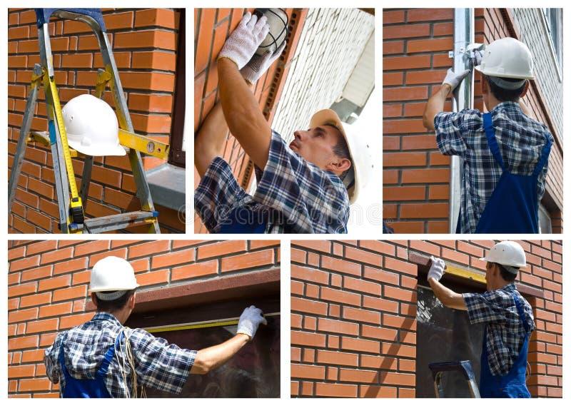 Uomo della costruzione fotografia stock libera da diritti