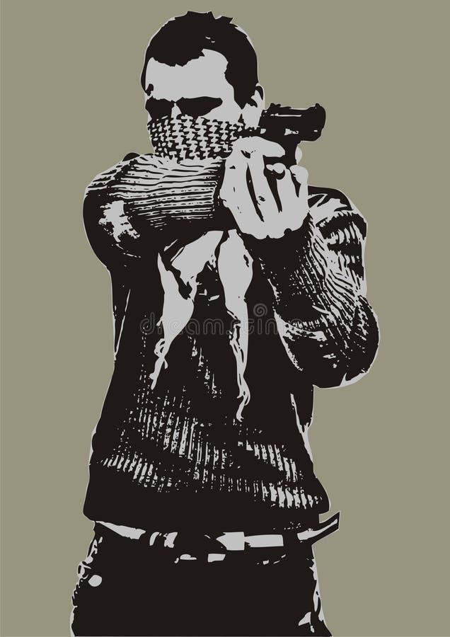 Uomo della fucilazione royalty illustrazione gratis