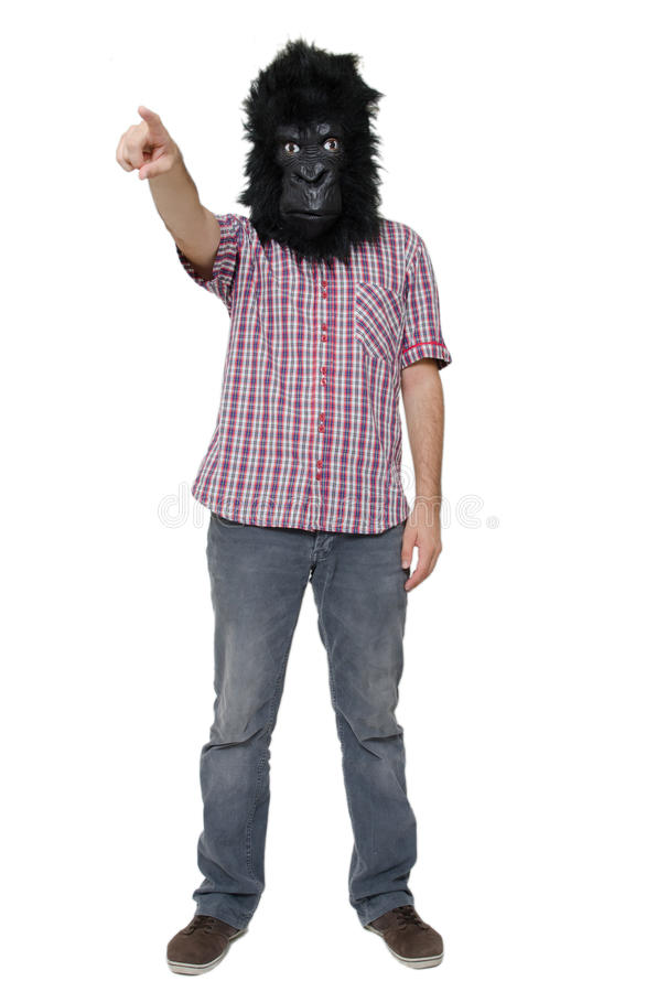 Uomo della gorilla fotografie stock libere da diritti