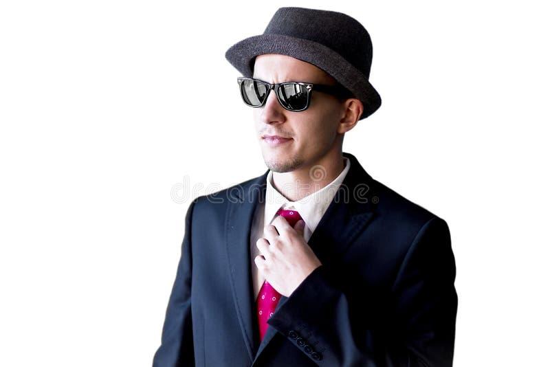Uomo della mafia in occhiali da sole fotografia stock libera da diritti