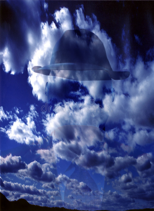 Download Uomo della nube illustrazione di stock. Illustrazione di insolito - 213371