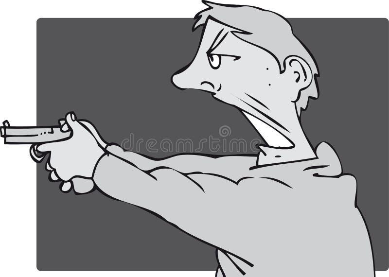 Uomo della pistola illustrazione vettoriale