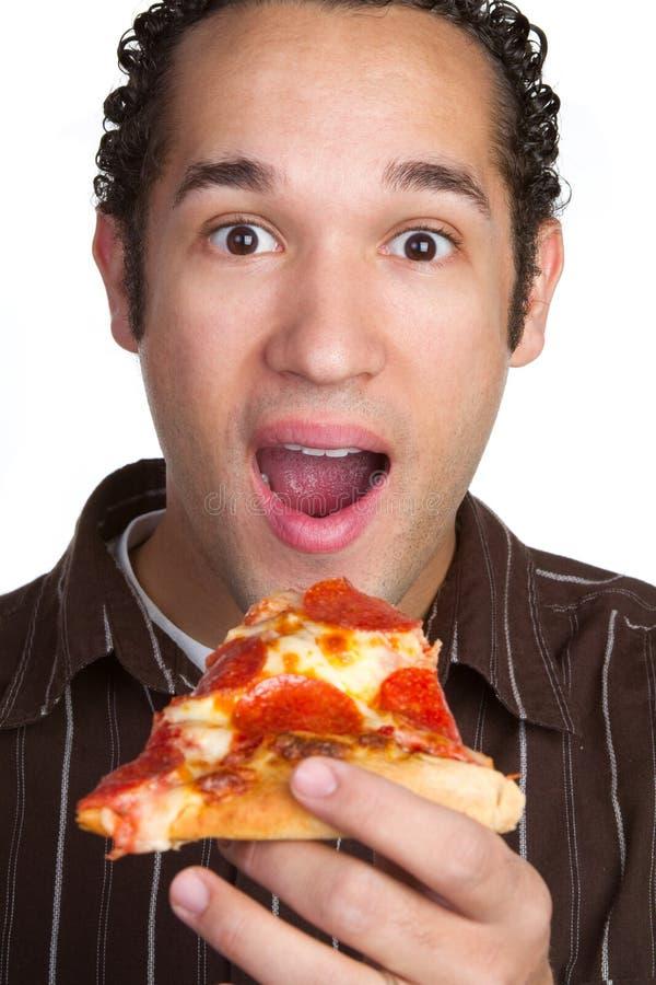 Uomo della pizza fotografie stock libere da diritti