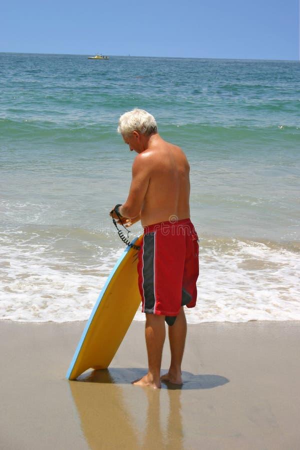 Uomo della spiaggia immagini stock libere da diritti