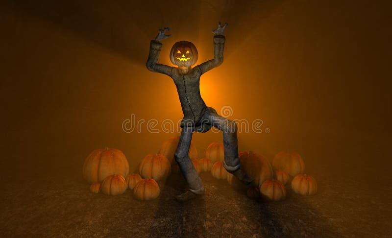 Uomo Della Zucca Di Halloween Fotografia Stock Libera da Diritti