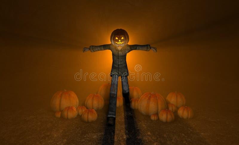 Uomo Della Zucca Di Halloween Immagine Stock