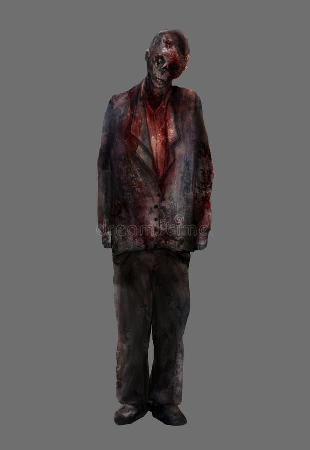 Uomo dello zombie royalty illustrazione gratis