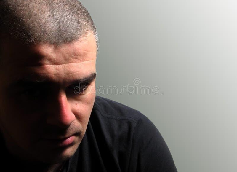 Uomo depresso immagini stock