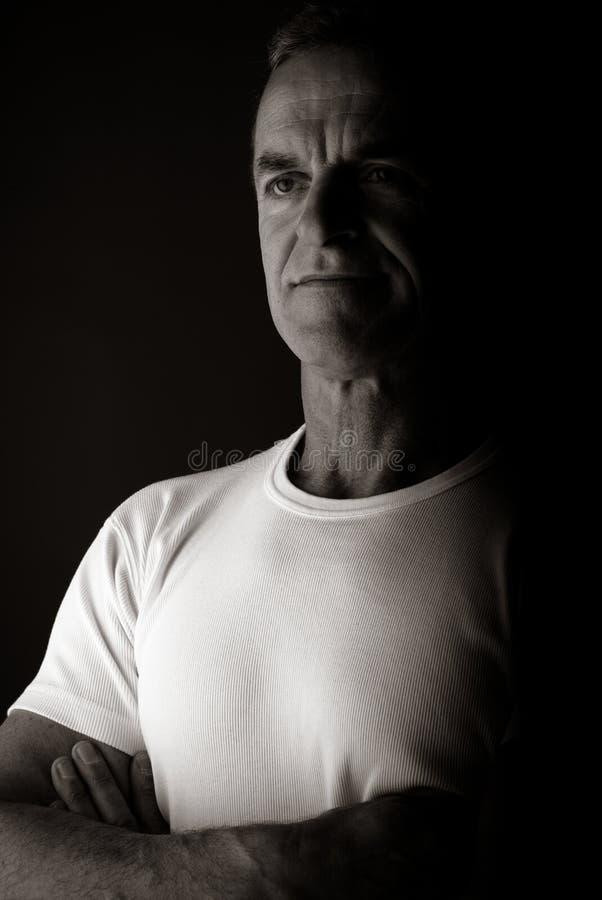 Uomo di 50s fotografia stock