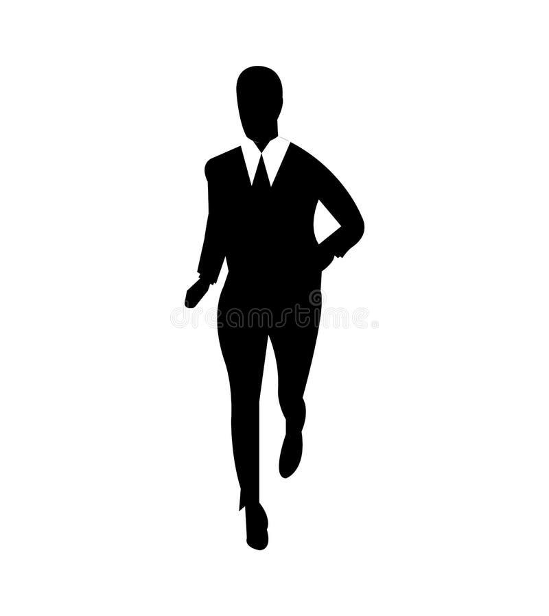 Uomo di affari che dirige una maratona illustrazione di stock