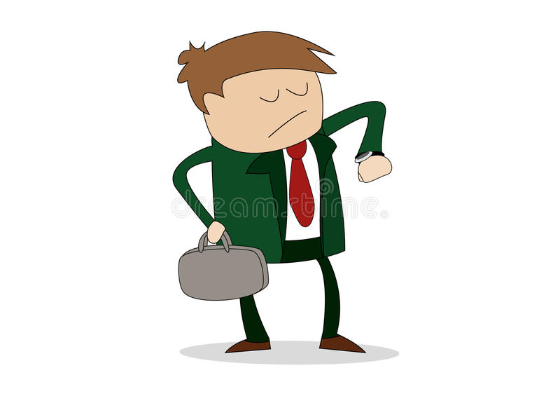 Uomo di affari che esamina vigilanza illustrazione vettoriale