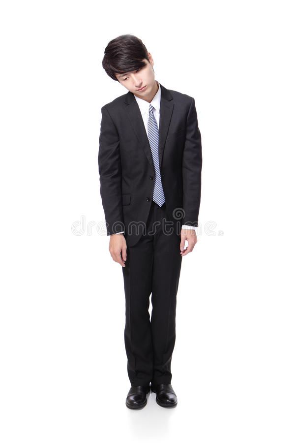 Uomo di affari che sembra deprimente da lavoro