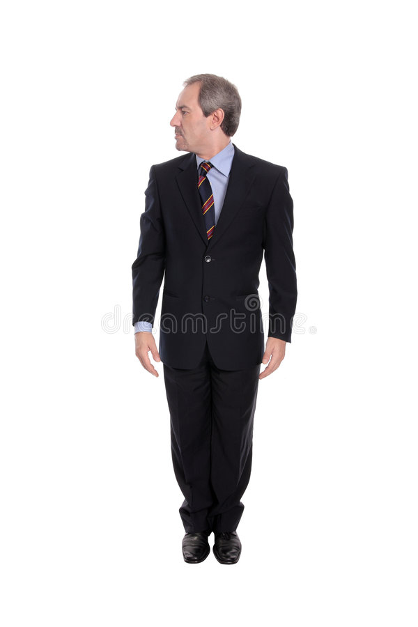 Uomo di affari che sembra di destra fotografie stock libere da diritti