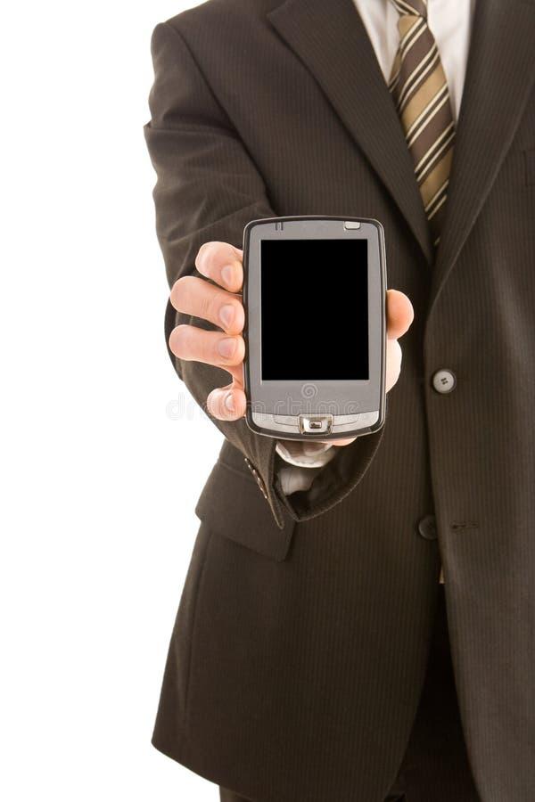 Download Uomo Di Affari Che Usando Un Pda Fotografia Stock - Immagine di mani, mano: 7315878
